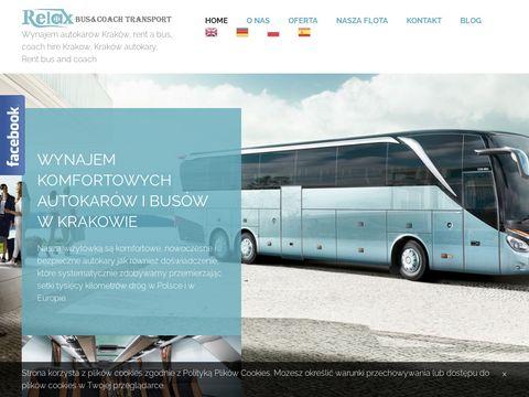 Relax komfortowe autokary w centrum Krakowa