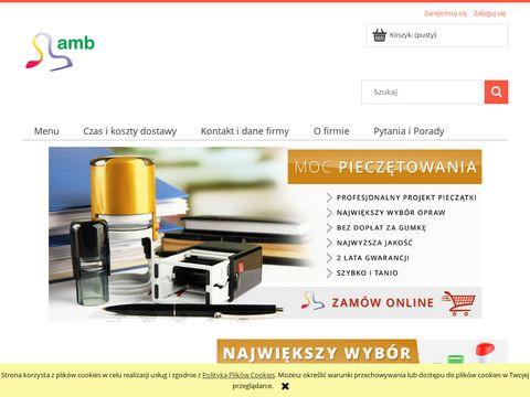 Amb.net.pl pieczątki stemple i wizytówki