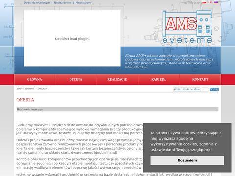 AMS-systems - budowa maszyn