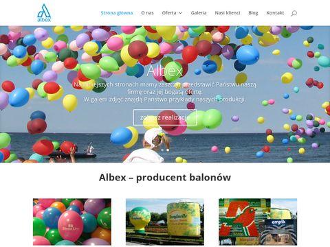 Albex - nadruki na balonach