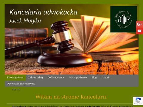 Adwokatmotyka.szczecin.pl Jacek Motyka