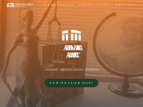 Adrian Mika adwokat kancelaria adwokacka