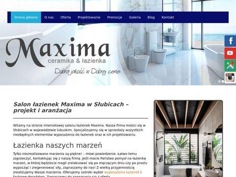 Maxima projekty łazienek lubuskie
