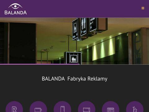 Balanda Rebranding oznakowania