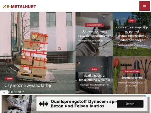 E-metalhurt.com.pl sklep z artykułami metalowymi