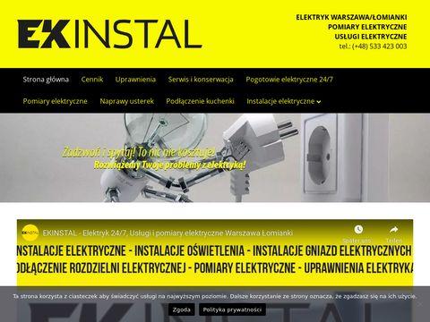 Ekinstal - elektryk Warszawa