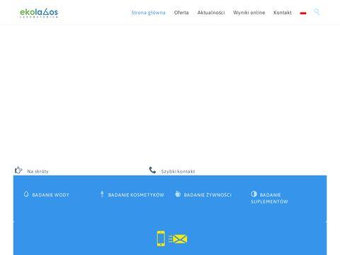 Ekolabos.pl - badania kosmetyków