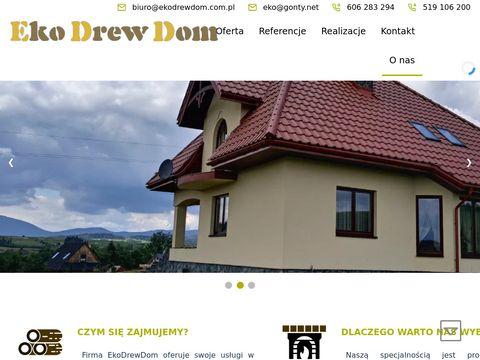 Eko-Drew-Dom dekarstwo i budowa domów z bala
