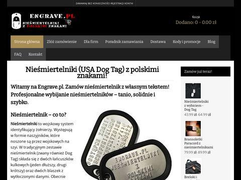 Engrave.pl wybijanie nieśmiertelników