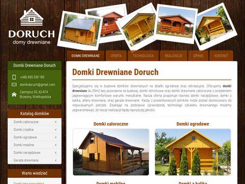 Domki drewniane działkowe
