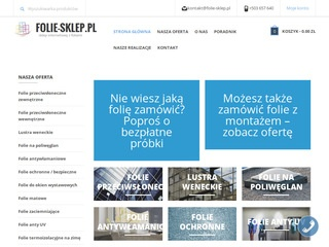 Folie anty UV w folie-sklep.pl