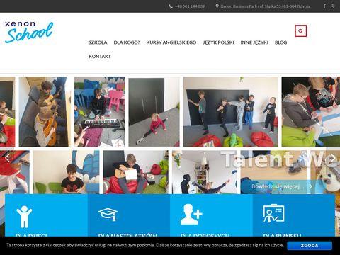 Xenon-school.pl nauka Angielskiego