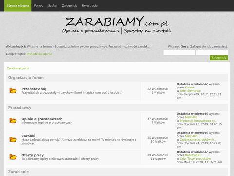 Zarabiamy.com.pl opinie o pracodawcach - forum