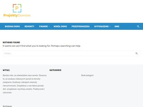 Projektydomow1.pl system dla biur projektowych