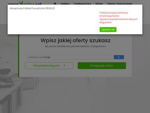 Pracuj-online.com zarabianie przez internet