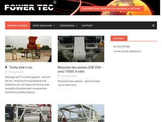 PowerTec - nagrzewnice, betoniarki, betoniarnie