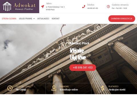 Plock-adwokat.pl Kamil Flatow