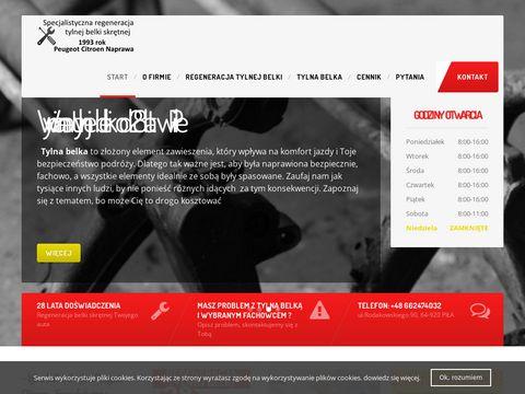 Szmytek.pl wymiana tylnej belki z Picasso