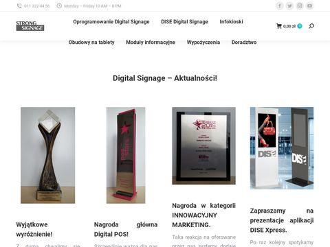 Digital Signage totemy i oprogramowanie