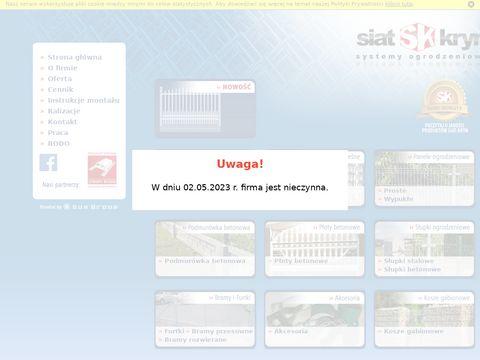 Siat - Kryn ogrodzenia betonowe