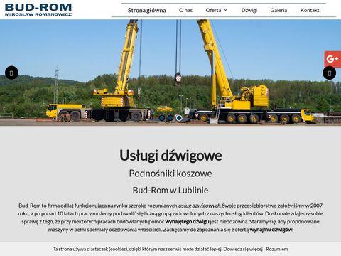 Bud-Rom wynajem dźwigów Lublin