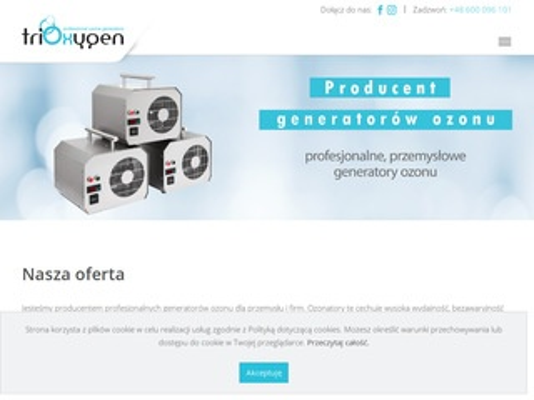 Trioxygen.com.pl nowoczesne ozonatory
