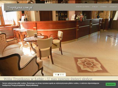 Tropikana.com.pl noclegi w Łebie blisko morza