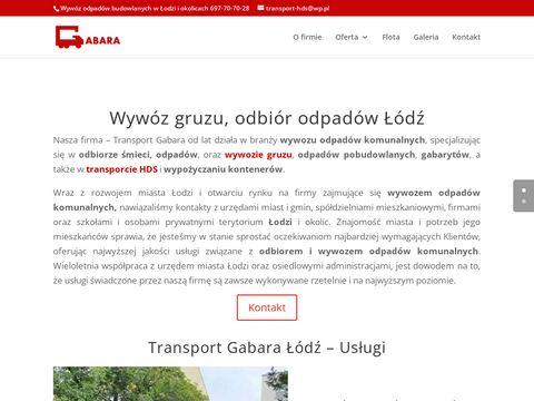 Transport-gabara.pl wywóz śmieci Łódź