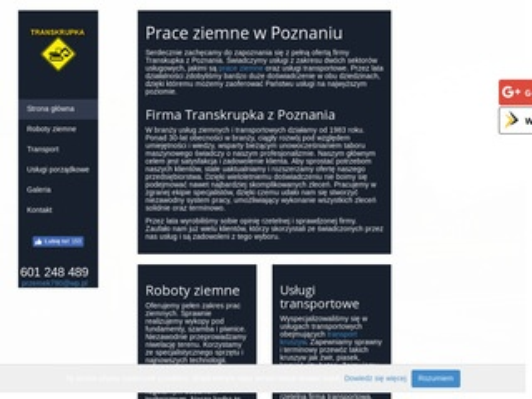 Transkrupka usługi ładowarką Poznań