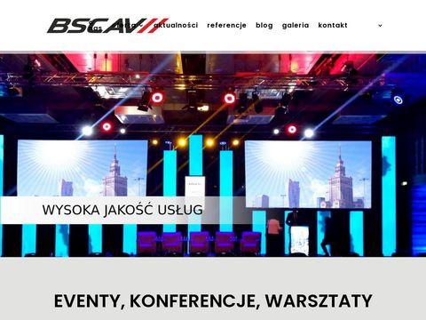 BSC AV obsługa konferencji Warszawa
