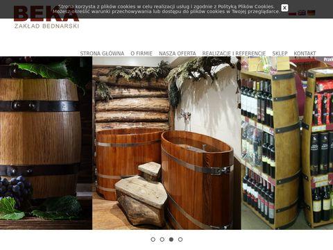 Beka.net.pl donice dębowe, wanna drewniana