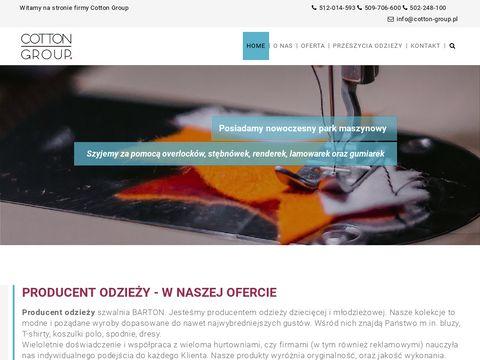 Barton.net.pl producent odzieży Łódź