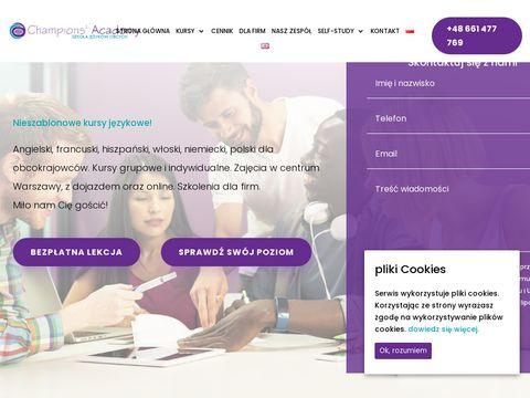 Champions Academy Warszawa Kursy językowe