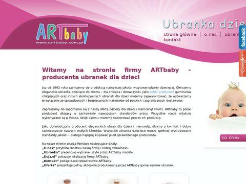 ARTbaby producent odzieży dla niemowląt