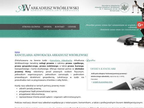 Arkadiusz Wróblewski prawo gospodarcze Lódź