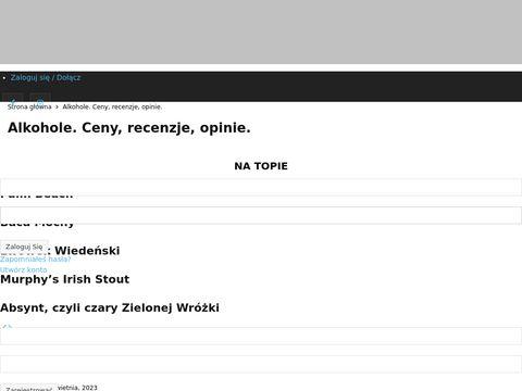 Alkowiki.pl wszystko co chcesz wiedzieć o alkoholu