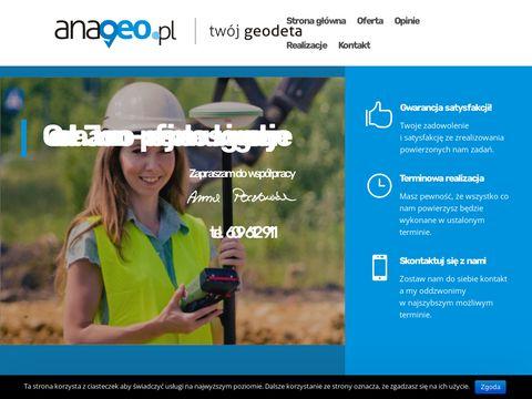 Anageo.pl geodeci Jaworzno