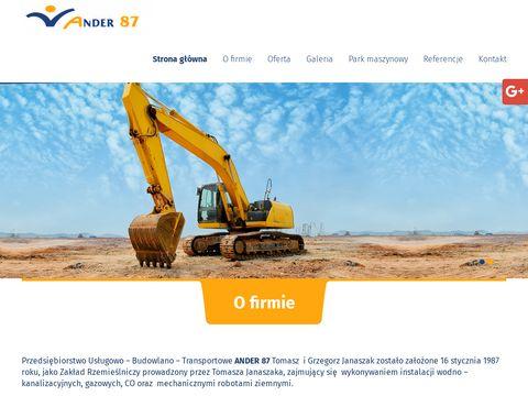 Ander 87 budowa odstojników tłuszczu Poznań