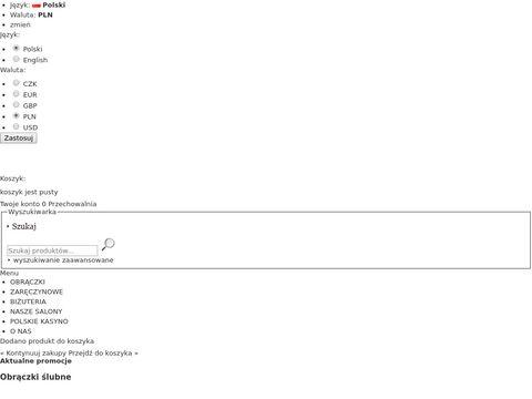 Ak-Biżuteria - obrączki złote