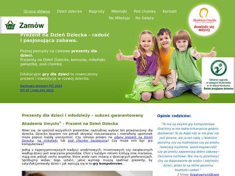 Akademiaumyslu.com.pl - Gry dla dzieci