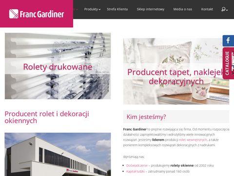 Franc Gardiner rolety na okno