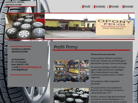 Felgiaku.pl alufelgi akumulatory Fabajnski Piła