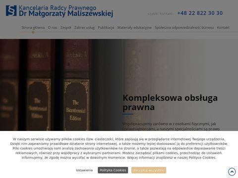 M. Maliszewska kancelaria prawna online