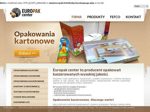 Europak-center.com.pl - pudełka kaszerowane