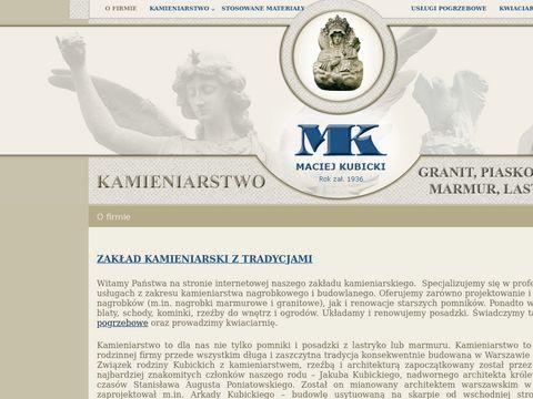 Maciej Kubicki nagrobki granitowe Warszawa