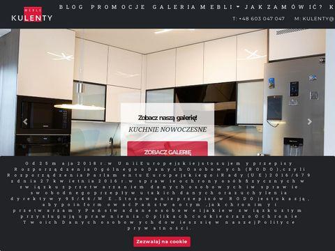 Kulenty projektowanie mebli aptecznych Warszawa