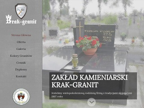 Krak-Granit montaż nagrobków Kraków