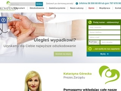Kompensja.com.pl odszkodowania z oc sprawcy