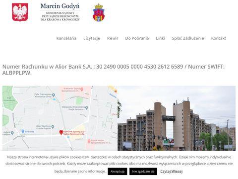 Marcin Godyń licytacje komornicze