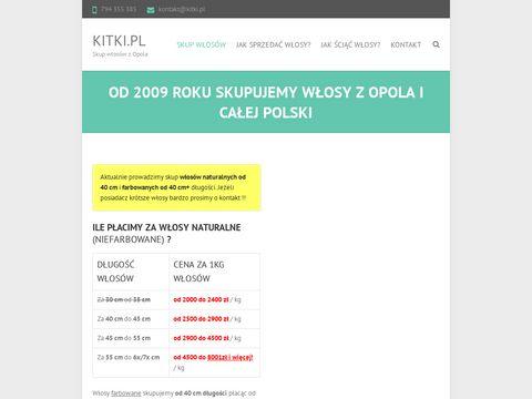 Kitki.pl - skup włosów farbowanych